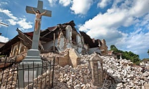 A ruined church in Port-au-Prince, Haiti
