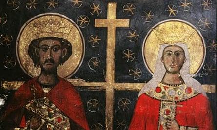 fresco of emperor constantine