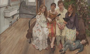 Lucian Freud's painting Large Interior, W11 (after Watteau)
