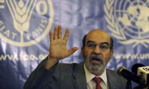 The head of the UN's Food and Agriculture Organisation, José Graziano da Silva