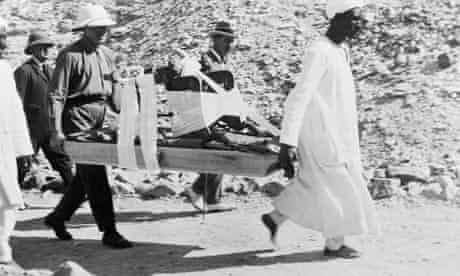 Howard Carter at excavation of King Tut's tomb