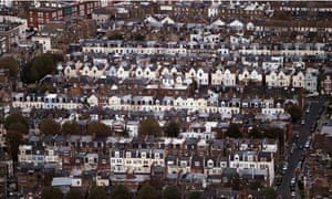 Victorian London houses seen from the air