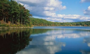 Walden Pond near Boston, Massachusetts, close to where Henry David Thoreau lived