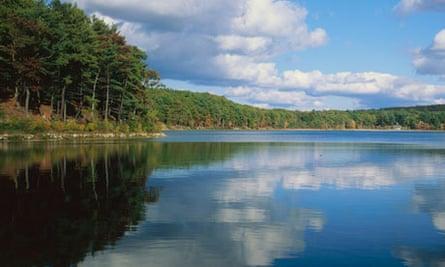 Walden Pond near Boston, Massachusetts, close to where Henry David Thoreau lived