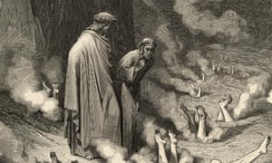 Hell bent … a Gustave Doré engraving to accompany Canto 19 of Dante's The Divine Comedy.