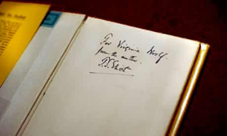 Buy the book … a first edition bearing an inscription from TS Eliot to Virginia Woolf.
