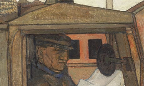 Detail from Lorry Driver in Cab, c1950-53, oil on canvas