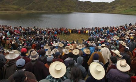 Protest against mining project in Peru