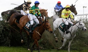 Neptune Collonges, right, with jockey Daryl Jacob on the way to winning the 2012 Grand National