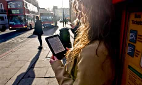 A young woman reading a novel
