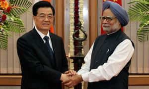 INDIA-CHINA-HU JINTAO-SINGH-MEET