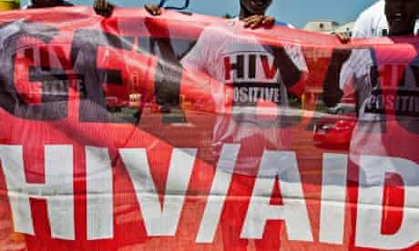 South African march for more funding for Aids