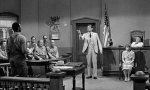 Gregory Peck defends Brock Peters to a biased jury in To Kill a Mockingbird (1962)