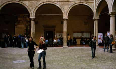 Students at Bologna University, Italy