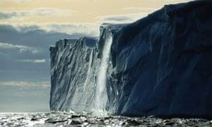 A melting iceberg off the coast of Newfoundland