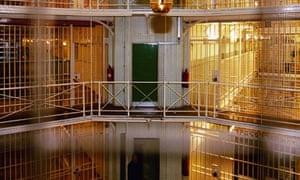 A view of prison corridors