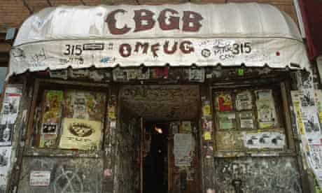Exterior of the rock club CBGB in New York City.