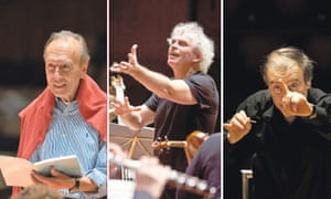 Claudio Abbado, Simon Rattle and Valery Gergiev conducting