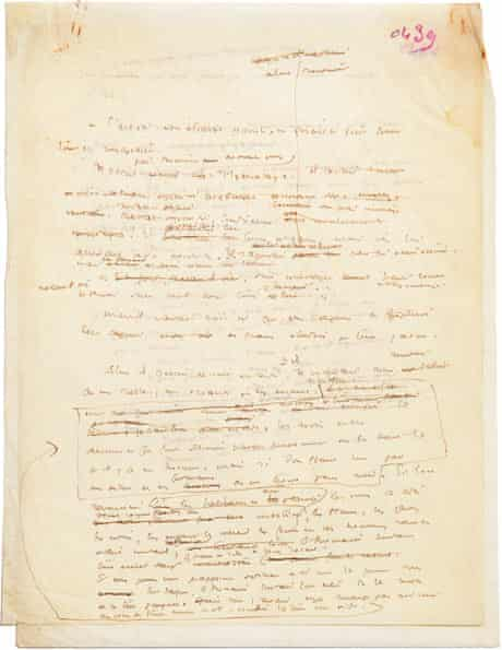 Pages from early draft of Le Petit Prince by Antoine de Saint-Exupéry