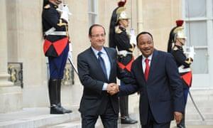 President of Niger Mahamadou Issoufou visit to Paris, France - 11 Jun 2012