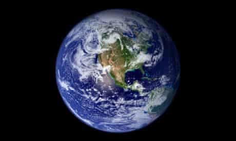 Global warning …a true-colour image of Earth.