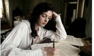 Anne Hathaway as Jane Austen in the 2007 film Becoming Jane