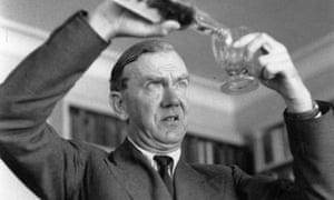 Appetite for destruction … Graham Greene pours himself a whisky.