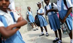 Haitian schoolchildren in Port-au-Prince
