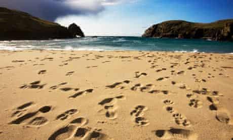 Dail Beag or Dalbeg beach on the Isle of Lewis, Scotland