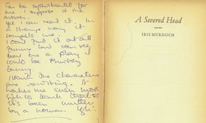 Book dedication: A Severed Head by Iris Murdoch