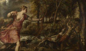 Detail fro Titian's painting The Death of Actaeon