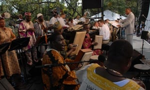 Jazz club … a performance of Congo Square
