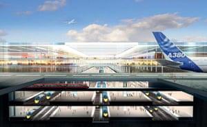 The Thames Hub airport and rail interchange