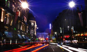 Dirty old town … London's Shaftesbury Avenue at night.