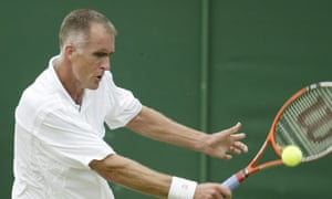 'Losing is what I do' … Todd Martin of the US on his way to defeat at Wimbledon in 2003.