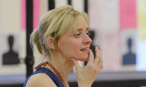 Anne-Marie Duff rehearsing the role of Berenice