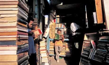 A book market in Cairo