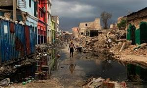 Haiti earthquake scene