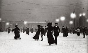 Ice skating by night, Vienna 1910