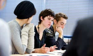 Creative writing students at the University of East Anglia