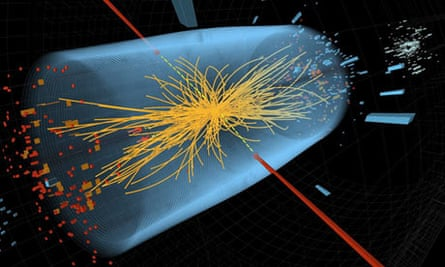 For Quantum. A Cern image showing a typical candidate event including two high-energy photons