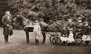 Queen Victoria with her grandchildren in a pony and trap