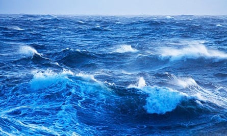 Stormy seas and large wave in the Southern Ocean