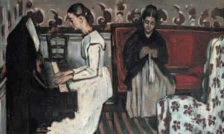 Paul Cezanne: Young Girl at the Piano, circa 1868