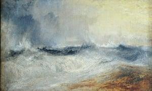 Turner: Waves Breaking against the Wind