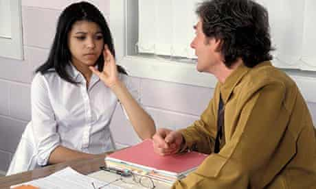 girl in counselling session