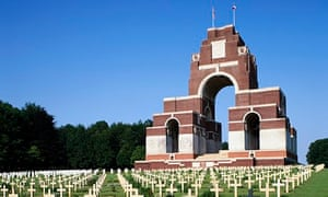 Thiepval Memorial and War Cemetery in France