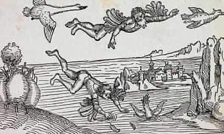 Daedalus Watching Icarus Falling