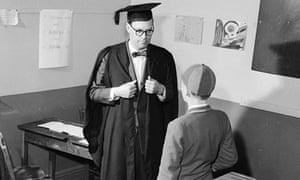 Teacher and schoolboy