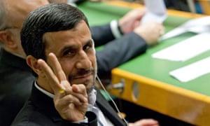 Revolutionary theory … Mahmoud Ahmadinejad, president of the Islamic Republic of Iran.